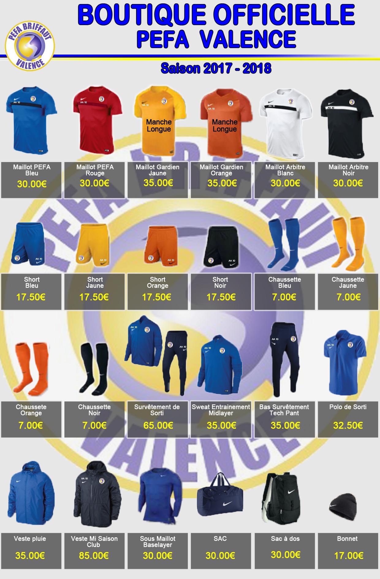 Boutique 2017-2018 pefa